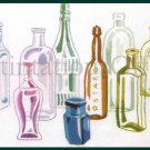 Rare Williams Historic Bottle Collection Repro Crewel Embroidery Kit Antique American Glass Bottles