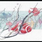 Rare D Morgan Aquarium Watercolor Exotic Fish Cross Stitch Kit Clown Fish