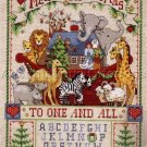Rare Inspirational Noah Christmas Cross Stitch Sampler Kit Ann Craig