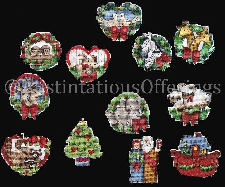 Rare Inspirational Noah Christmas Ornaments Cross Stitch Kit Ann Craig
