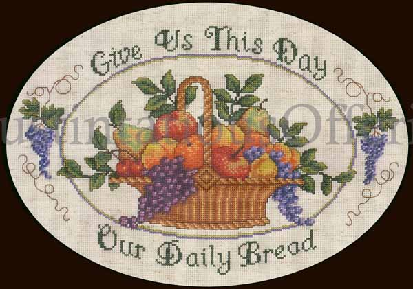 Rare LeClair Inspirational Prayer Cross Stitch Kit Williams Daily Bread Gratitude