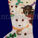 Rare Dede Ogden Hand Painted Needlepoint Stocking Canvas Wooly Sheep Baa Baa Black Sheep