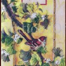 Rare Rossi Oriental Sparrow with Inspirational Verse Crewel Embroidery Kit Bird on Branch