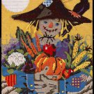 Rare Harvest Mr Scarecrow Textured Needlepoint Kit Arm Full of Vegetables