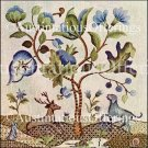 RARE WHI LONDON JACOBEAN CREWEL EMBROIDERY PILLOW KIT SHERWOOD CHASE TREE OF LIFE