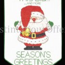 Rare Morehead Santa Seasons Greetings CrossStitch Banner Kit