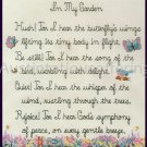 SANDI PHIPPS FLORAL CROSS STITCH SAMPLER KIT IN MY GARDEN