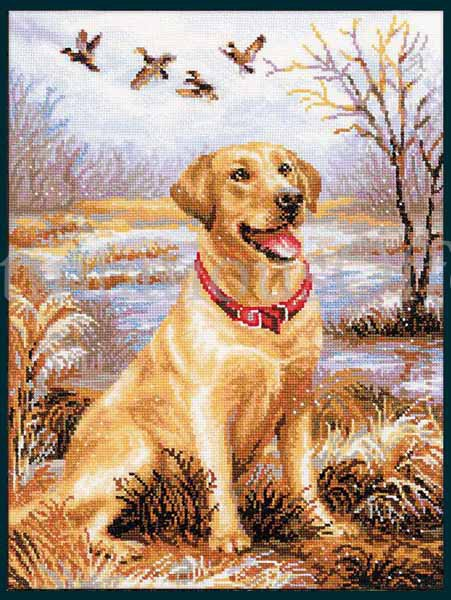 Melenteva Labrador Retriever Cross Stitch Kit Duck Hunting Companion Dog