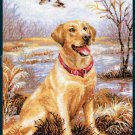 Melenteva Labrador Retriever Cross Stitch Kit Duck Hunting Companion Dog