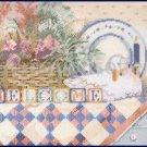 Rare Avery Pastel Country Folk Art Flower Basket Shelf Still Life Needlepoint Kit Goose Decoy