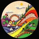 RARE MCDOWELL FOLK ART VALLEY CREWEL  KIT HILLSIDE COUNTRY VILLAGE