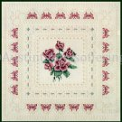 Rare Cooley Romantic Victorian Lace Roses Cross Stitch Kit Butterflies