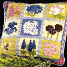 RARE  BRIGHT SUMMER SAMPLER LONGSTITCH NEEDLEPOINT PILLOW KIT