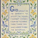 Inspirational Serenity Prayer Stamped Cross stitch Sampler Kit