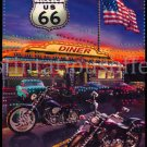 Get your Kicks Fun US Route 66 Jewled Banner Kit Motorcycles Diner
