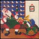 Santa Claus in his Workshop Mini Needlepoint Kit Snowy Window Scene