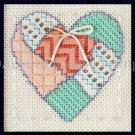 RARE SCHLITZER TEXTURED PATCH WORK HEART MINI NEEDLEPOINT KIT