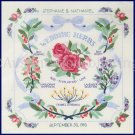 ZABROSKI ROSE AND HERB FLORAL WEDDING RECORD CREWEL EMBROIDERY KIT