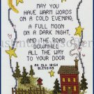 Inspirational Irish  Blessing Sampler Cross Stitch Kit Arthurs May You Have Warm Words