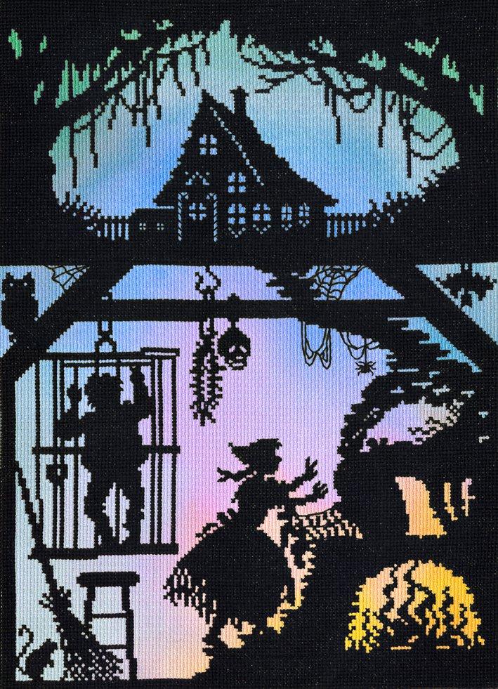 Deborah Street Fairy Tale Cross Stitch Kit Hansel and Gretel Silhouette