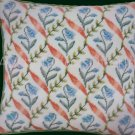 Rare WHI of London Classic Diamond Needlepoint Pillow Kit Spring Bluebells and Ribbons