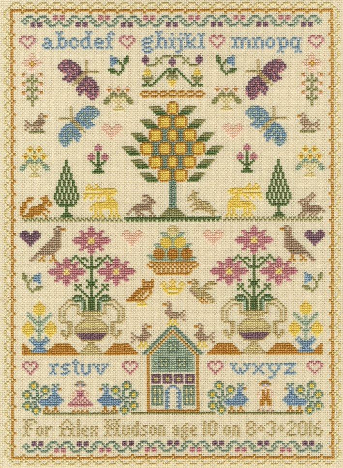 Moria Blackburn Traditional SamplerCross Stitch Kit Birthday