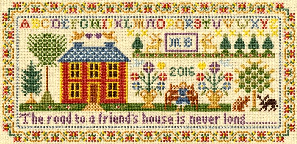 Moira BlackburnTraditional Sampler  Cross Stitch Kit Friends House Bothy