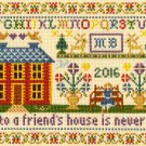 Moira BlackburnTraditional Sampler  Cross Stitch Kit Friends House Bothy