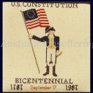 Rare We The People US Constitution Bicentennial Counted Cross Stitch Kit