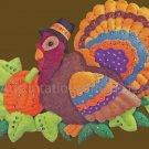 Rare Thanksgiving Turkey in Pilgrim Hat Felt Applique Wall Hanging Kit Pumpkin Patch