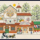 RARE WYSOCKI VILLAGE SHOPS CREWEL EMBROIDERY KIT CLOTHIERS FLORIST RESTAURANT