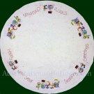 Rare Davenport Holiday Snow Bears Crewel Embroidery Tree Skirt Kit Merry Christmas Table Cover
