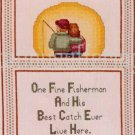 RARE PATSY MOORE FISHING PARTNER FOR LIFE LOVE WIFE COUNTED CROSS STITCH KIT