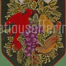 RARE LECLAIR CARDINAL PAIR HOLIDAY GREENERY NEEDLEPOINT KIT YULETIDE BANNER