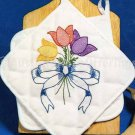 SPRING TULIP BOUQUET POT HOLDER PAIR STAMPED FOR EMBROIDERY STOCK