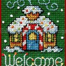 HOLIDAY GINGERBREAD HOUSE ORNAMENT HANGING CROSSSTITCH KIT