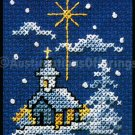 HOLIDAY SNOWCOVERED CHURCH ORNAMENT CROSS STITCH KIT