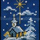 HOLIDAY SNOWCOVERED CHURCH ORNAMENT CROSS STITCH KIT