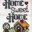 HOME SWEET HOME MINI BANNER COUNTED CROSS STITCH WALL HANGING KIT