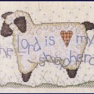 RARE CHANDLER THE LORD IS MY SHEPHERD COUNTED CROSS STITCH LAMB