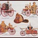 Museum Collection Vintage Fire Engines Cross Stitch Kit Antique Automobiles