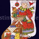 Rare Elliott Mrs Claus in the Kitchen Cross Stitch Christmas Stocking Kit