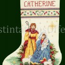 RARE AVERY NATIVITY SCENE CROSS STITCH STOCKING KIT HOLY FAMILY