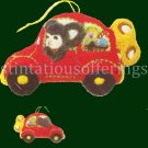 RARE BLYLER 3D MERRY MOUSE ORNAMENT CREWEL EMBROIDERY KIT CHRISTMAS CAR