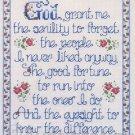 Rare Joan Elliott Senility Prayer Cross Stitch Sassy Sampler Kit