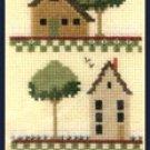 Rare Saltbox Homes Sampler Cross Stitch Kit Shaker Village