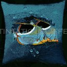 RARE CHRISTIAN RIESE LASSEN TROPICAL FISH PAIR NEEDLEPOINT KIT TANGO FISH DUO DEEP BLUE SEA