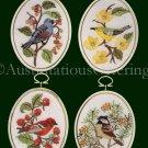 Eleanor Engel Winter Birds  Embroidery Kit Finches Chickadee Crewel Stitchery