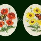 Rare Eleanor Engel Summer Crewel Embroidery Kits Butterflies Flowers Monarch