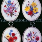 Eleanor Engel Spring Bouquets Embroidery Kit Tulips Daffodils Crewel Stitchery